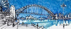 The Bridge at Luna Park by Ingo -  sized 59x24 inches. Available from Whitewall Galleries